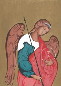 malba na drevo - anjel 5