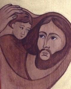 malba na drevo - jozef s jeziskom