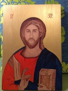 malba na drevo - pantokrator